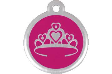 Red Dingo QR Tag Crown Hot Pink 06-CR-HP (6CRHPS / 6CRHPL)