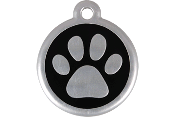 Red Dingo QR Tag Paw Prints Noire 06-PP-BB (6PPBS / 6PPBL)