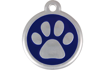 Red Dingo QR Tag Paw Prints Dark Blue 06-PP-DB (6PPNS / 6PPNL)
