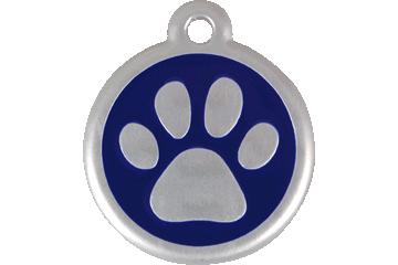 Red Dingo Médaille avec flashcode (QR Code) Patte Bleu Foncé 06-PP-DB (6PPNS / 6PPNL)