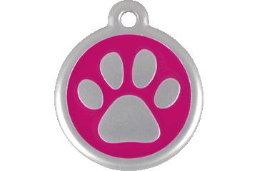 Red Dingo QR Tag Paw Prints Rose Bonbon 06-PP-HP (6PPHPS / 6PPHPL)