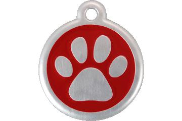 Red Dingo QR Tag Paw Prints Rouge 06-PP-RE (6PPRS / 6PPRL)