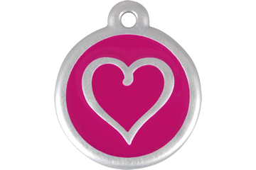 Red Dingo QR Tag Tribal Heart Hot Pink 06-TH-HP (6THHPS / 6THHPL)