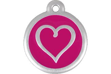 Red Dingo QR Tag Tribal Heart Rose Bonbon 06-TH-HP (6THHPS / 6THHPL)