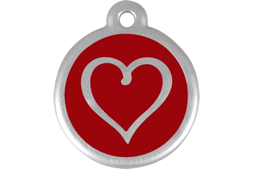 Red Dingo QR Tag Tribal Heart Red 06-TH-RE (6THRS / 6THRL)