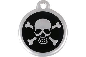 Red Dingo QR Tag Skull & Cross Bones Noire 06-XB-BB (6XBBS / 6XBBL)