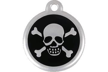 Red Dingo QR Tag Skull & Cross Bones Noire 06-XB-BB (6XBBS / 6XBBL)