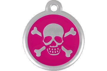 Red Dingo QR Tag Skull & Cross Bones Rose Bonbon 06-XB-HP (6XBHPS / 6XBHPL)