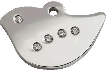 Red Dingo Diamante Polished Stainless Steel Tag Bird 08-BI-ZZ (8BIS / 8BIM / 8BIL)