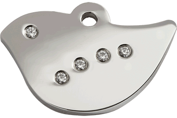 Red Dingo Diamante Polished Stainless Steel Tag Bird 08-BI-ZZ (8BIS / 8BIM / 8BIL)