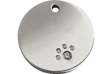 Red Dingo Médaille Diamante en acier inoxydable poli Rond Acier inoxydable 08-CL-ZZ (8CLS / 8CLM / 8CLL)