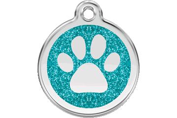 Red Dingo Médaille avec paillettes Patte Turquoise 0X-PP-AQ (XPPAS / XPPAM / XPPAL)