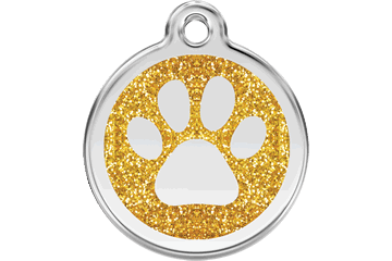 Red Dingo Glitzer Emaille Marke Paw Prints Gold 0X-PP-GO (XPPGOS / XPPGOM / XPPGOL)