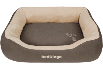 Red Dingo Donut Bed Dark Brown / Cream BD-MM-BR (BDDS105 / BDDM105 / BDDL105)