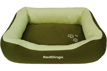 Red Dingo Donut Bed Army Green / Lime Green BD-MM-GR