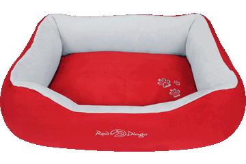 Red Dingo Donut Bed Red / Light Grey BD-MM-RE