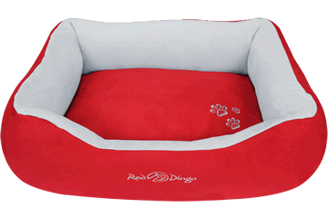 Red Dingo Donut Bed Red / Light Grey BD-MM-RE (BDDS107 / BDDM107 / BDDL107)