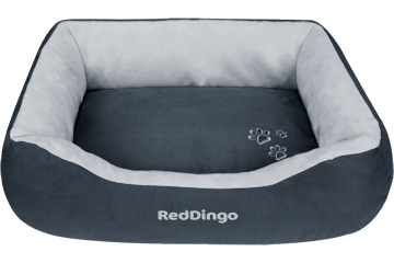 Red Dingo Donut Bed Dark Grey / Light Grey BD-MM-SI