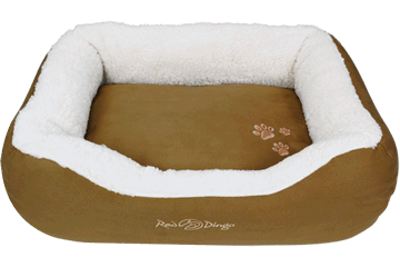Red Dingo Donut Bed Faux Sheepskin / Natural Brown BD-SN-NB (BDDS115 / BDDM115 / BDDL115)