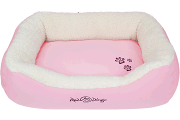 Red Dingo Donut Bed Faux Sheepskin / Pink BD-SN-PK (BDDS108 / BDDM108 / BDDL108)