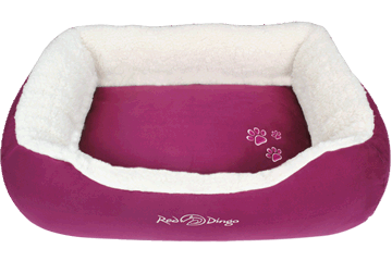 Red Dingo Donut Bed Faux Sheepskin / Purple BD-SN-PU