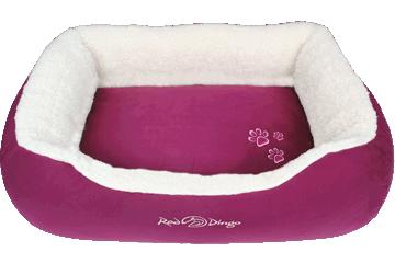 Red Dingo Donut Bed Faux Sheepskin / Purple BD-SN-PU