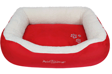 Red Dingo Donut Bed Faux Sheepskin / Red BD-SN-RE