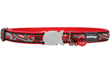 Red Dingo Cat Collar Bandana Red CC-BA-RE