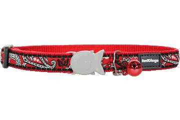 Red Dingo Cat Collar Bandana Red CC-BA-RE