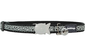 Red Dingo Cat Collar Bedrock Black CC-BE-BB
