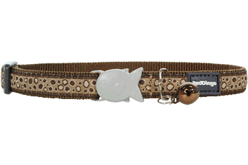Red Dingo Cat Collar Bedrock Brown CC-BE-BR