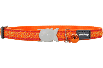 Red Dingo Cat Collar Bedrock Orange CC-BE-OR