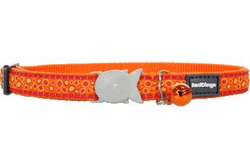 Red Dingo Cat Collar Bedrock Orange CC-BE-OR