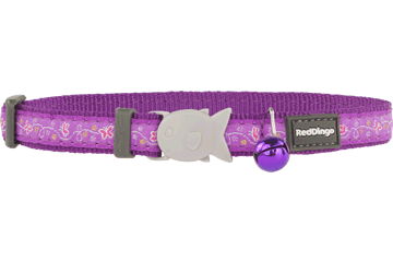 Red Dingo Cat Collar Butterfly purper CC-BL-PU