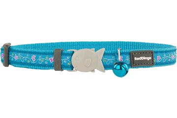 Red Dingo Cat Collar Butterfly Turquoise CC-BL-TQ