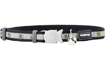 Red Dingo Cat Collar Bumble Bee Black CC-BM-BB