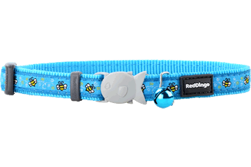 Red Dingo Cat Collar Bumble Bee Turquoise CC-BM-TQ