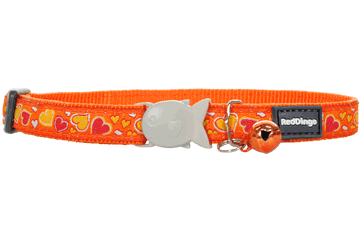 Red Dingo Cat Collar Breezy Love Arancione CC-BZ-OR