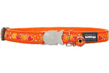 Red Dingo Cat Collar Breezy Love Orange CC-BZ-OR