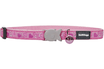 Red Dingo Cat Collar Breezy Love Pink CC-BZ-PK