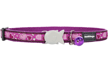 Red Dingo Cat Collar Breezy Love Viola CC-BZ-PU