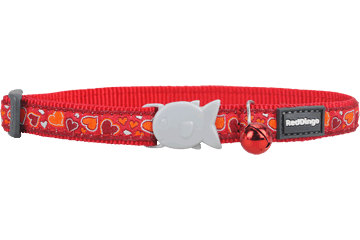 Red Dingo Cat Collar Breezy Love Rosso CC-BZ-RE