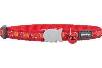 Red Dingo Cat Collar Breezy Love Red CC-BZ-RE
