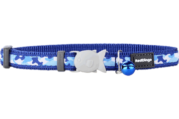 Red Dingo Cat Collar Camouflage Dark Blue CC-CF-DB
