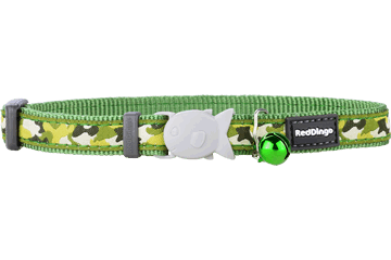 Red Dingo Cat Collar Camouflage Green CC-CF-GR