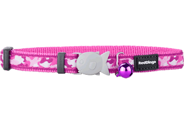 Red Dingo Cat Collar Camouflage Hot Pink CC-CF-HP