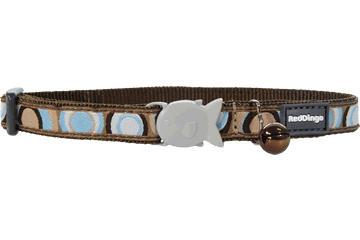 Red Dingo Cat Collar Circadelic Brown CC-CI-BR