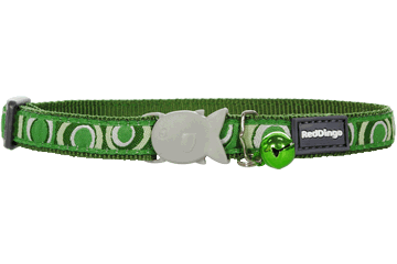 Red Dingo Cat Collar Circadelic Green CC-CI-GR
