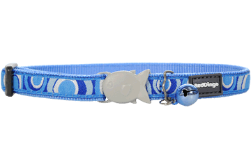 Red Dingo Cat Collar Circadelic Medium Blue CC-CI-MB