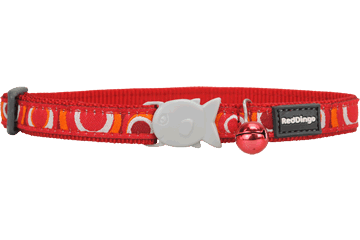 Red Dingo Cat Collar Circadelic Red CC-CI-RE